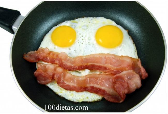 huevos con jamon para la dieta cetogénica