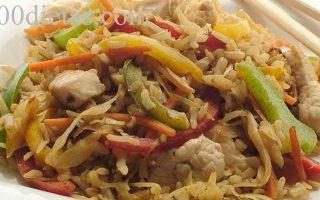 Pollo al horno con arroz integral