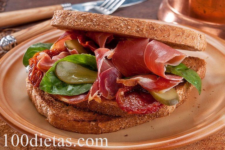 Sándwich de pan integral