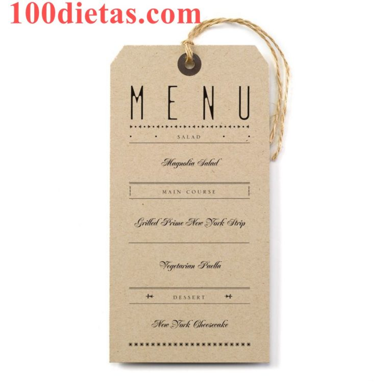 Ejemplo de Menús para 1 Semana de Dieta de los días Alternos