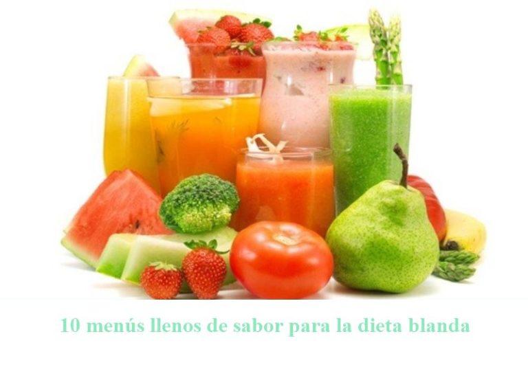 dieta blanda de alimentos